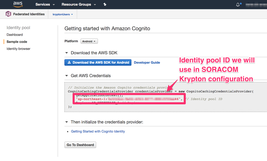 Get Cognito credentials with Krypton and download files from